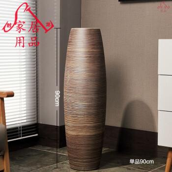 欧式创意现代客厅家居软装饰品高陶罐缸陶瓷落地大花瓶摆件艺术品图片