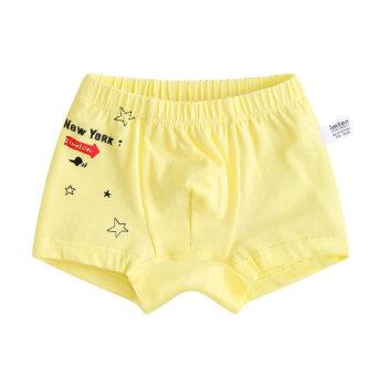 宝宝内裤男孩子1-2-5岁幼儿童裤衩小童三角裤婴儿短裤女潮 拯救黄色