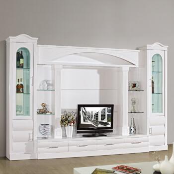 背景整体客厅电视柜电视柜电视墙组合欧式酒柜欧式储物多功能组合家具