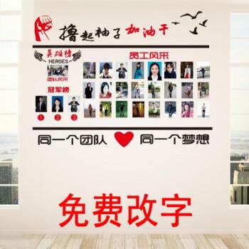 创意家居光荣榜荣誉墙贴画公司企业文化销售团队照片墙贴纸员工风采英