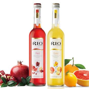 RIO 锐澳佐餐鸡尾酒 预调酒洋酒 红标金标各1 杉杉来了460ml*2瓶
