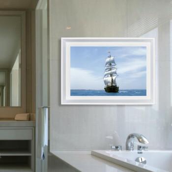 pioneer) 现代帆船风景装饰画 卧室客厅玄关挂画卫生间浴室防水画