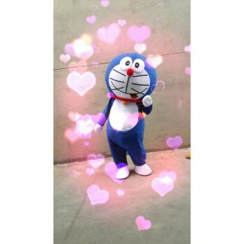 抖音 七夕情人节告白 机器猫叮当猫哆啦a梦卡通人偶 .