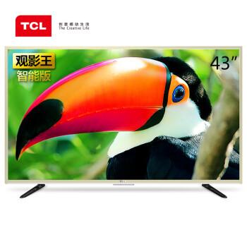 TCL D43A810 43英寸 海量影视资源观影王 安卓智能LED液晶电视(金色)