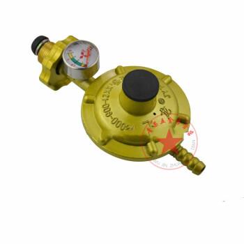 液化气调压阀减压阀带表煤气罐阀门燃气家用石油带开关 单咀带表煤气