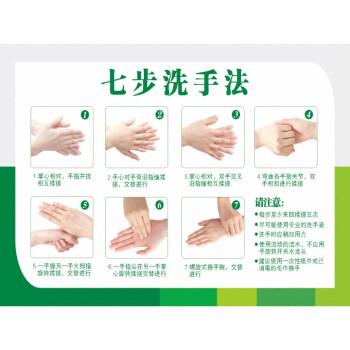 2件8折中小学幼儿园标准六步七步洗手法步骤图墙纸自粘个人卫生宣传