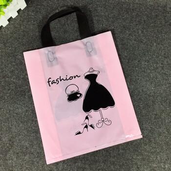 男女装服装店衣服手提袋礼品袋塑料袋子手提胶袋包装大中小号 a2粉色