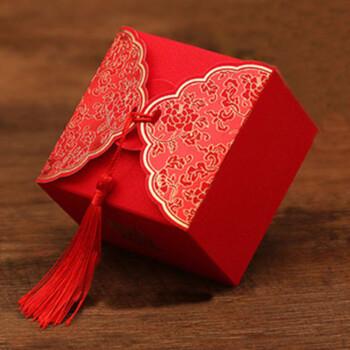 独壹 喜糖盒子创意中式结婚用品个性甜蜜约定婚庆糖果