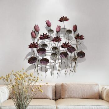 室内(Snnei) 立体墙饰电视沙发背景墙浮雕挂饰装饰画中式创意墙面壁饰 出水芙蓉