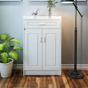 实木鞋柜现代简约玄关门厅柜白色简易鞋柜大容量阳台客厅储物柜 两门