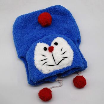 宝宝绒绒线马甲材料包diy手工编织珊瑚绒毛线儿童棒针毛衣 机器猫马甲