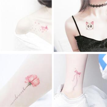 纹身贴防水女持久小清新可爱性感樱花情侣脚踝仿真