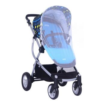 小龙哈彼 Happy dino 高景观婴儿推车 全蓬配置多档调节防水透气遮阳蓬 LC800-H-M105 蓝色 0-36个月