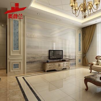 现代简约电视背景墙瓷砖微晶石瓷砖背景墙客厅大理石石材边框造型装饰