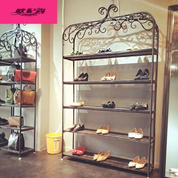 服装店鞋架展示架多层鞋店货架陈列柜童鞋落地创意橱窗女包包架子 150图片