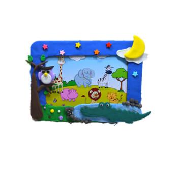 卡通相框彩泥轻粘土diy儿童手工制作材料包工具套装雪花泥珍珠泥 森林