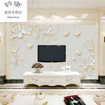 斯宝路18新款 时尚欧式浮雕3d立体电视背景墙壁纸大气