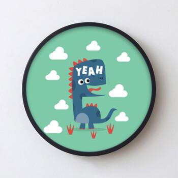 恐龙大集合男孩房圆形装饰画幼儿园游乐园儿童英语培训挂画墙画 14 44