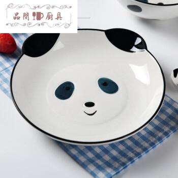 一碗一盘 可爱手绘动物米饭碗面碗汤碗平盘菜盘子日式