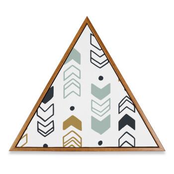 柳叶三角形装饰画 北欧几何图案英文黑白创意家居壁画