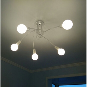 朝腾现代卧室客厅枝形吊灯餐厅艺术创意个性吊灯具北欧简约服装店灯饰 黑色-5头-复古LED灯泡