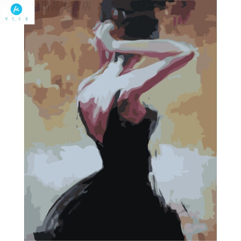 数字油画diy手绘芭蕾舞者人物美女客厅卧室装饰画装饰字画 6112背影