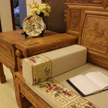 中式方枕圆柱午睡腰枕扶手枕长方形抱枕靠垫实罗汉床手枕中国风古典