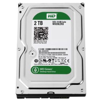 西部数据(WD)绿盘 2TB SATA6Gb/s 64M 台式机硬盘(WD20EZRX)