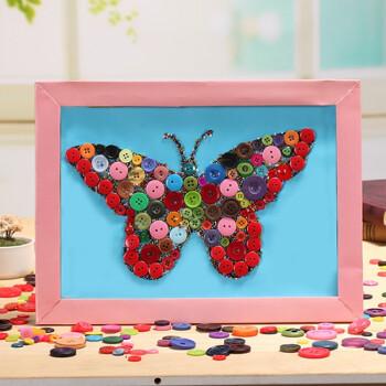 纽扣画儿童粘贴相框画幼儿手工制作材料包宝宝diy创意