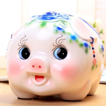 创意礼品 猪储蓄罐大码大号陶瓷摆件创意储钱罐儿童超大礼物可爱创意