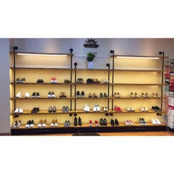 上墙多层鞋架包包展示架男女装店童鞋鞋架 复古鞋店鞋架创意鞋货架图片