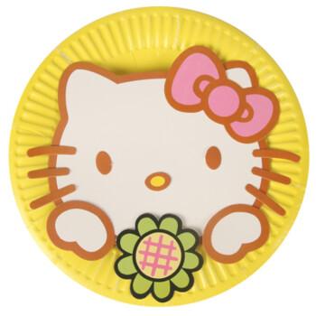 动物彩色diy纸盘子贴画 幼儿园教室布置儿童手工创意墙贴材料包 猫咪