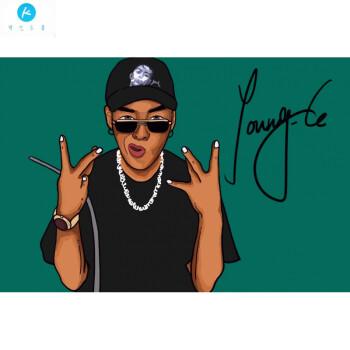 19新款嘻哈手绘真人肖像画像卡通电子漫画q版微信头像美式漫画个性