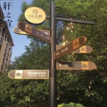 指示牌 小区景区公园路牌 立式分流路标牌导向牌 定制