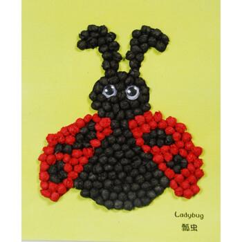揉纸搓纸贴画儿童手工diy创意制作材料包 幼儿园小班亲子活动玩具培训