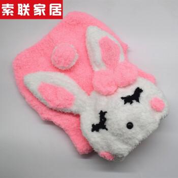 马甲材料包diy手工编织珊瑚绒毛线儿童棒针毛衣送教程 小兔子(粉)马甲