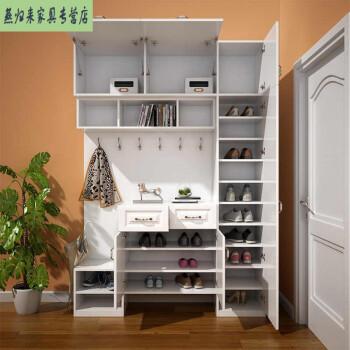 客厅家具 鞋柜 知茗 衣帽柜入户多功能组合隔断玄关柜门衣帽简约卧室