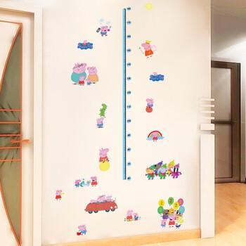 小猪佩奇墙贴墙纸幼儿园儿童房卧室卡通墙面卡通装饰贴画 小猪佩奇