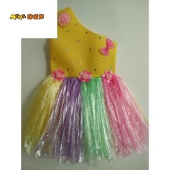 萌恬声 六儿童节环保服装演出服儿童时装秀材料制作环保衣服公主裙