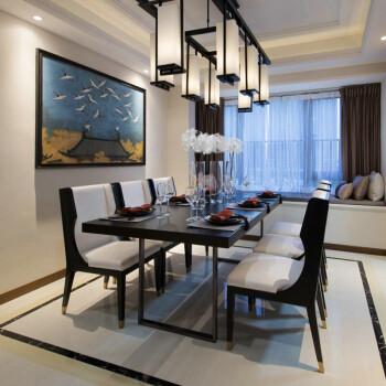 意式极简轻奢长方形餐桌椅组合 新古典餐厅港式家具定制 后现代餐厅