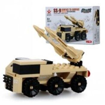 星钻积木星转军事部队拼装拼插玩具男孩装甲车飞机 80032