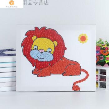 国庆节儿童手工粘贴纽扣diy创意制作扣子画材料包儿童