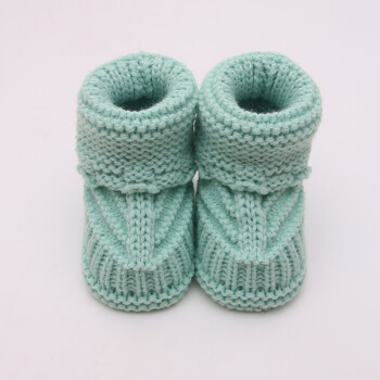 初爱新生婴儿毛线鞋编织手工宝宝学步鞋子0-1岁春秋卡通系带童鞋