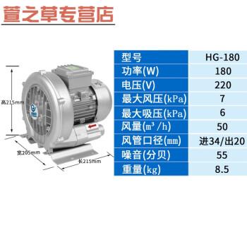 180w高压漩涡风机220v旋涡气泵增氧机增氧泵圆形风机高压鼓风机 180w