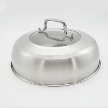 南北朝 新款创意新品蒸锅炒锅锅盖 不锈钢家用盖子锅盖鼎盖铁锅盖通用