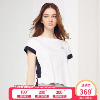 fila(斐乐)2018 g系列女t恤高圆圆同款夏季新款短袖纯棉运动t恤女