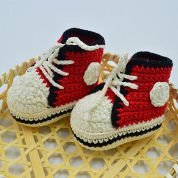宝宝婴儿鞋子材料包diy手工编织钩针毛线婴儿鞋材料包送0基础视频