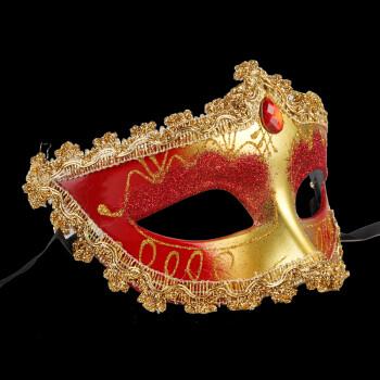 仕彩 舞会面具 威尼斯面具 舞会派对表演面具 皇冠面具 小公主围边