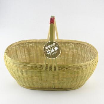 竹编 菜篮 竹筐 框子 篮子 收纳 厨房 买菜篮子 天然 全青 桐油防霉圆