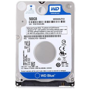 西部数据(WD) 笔记本机械硬盘7mm 2.5英寸500G/1T/2T蓝盘128M仓监控游戏小盘 (WD20SPZX)2